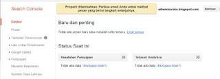 cara daftarkan blog ke google webmaster tool