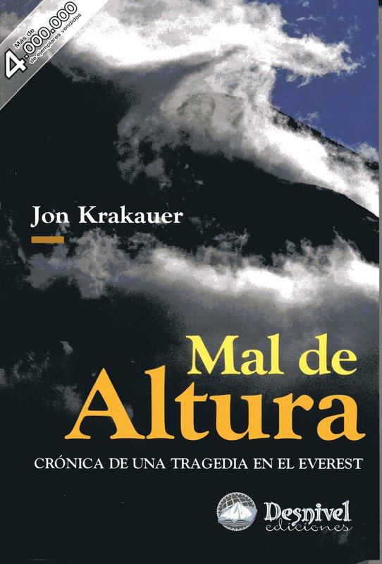 Resultado de imagen de Mal de Altura – Jon Krakauer