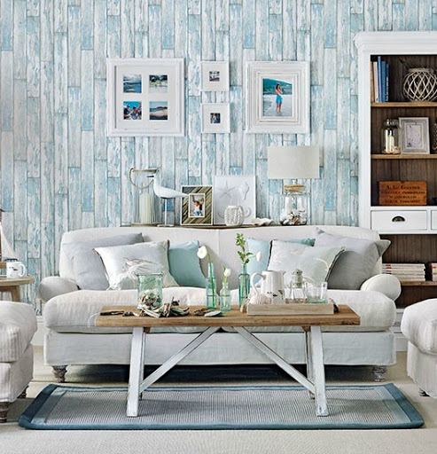 Weathered Wood Panel Wallpaper