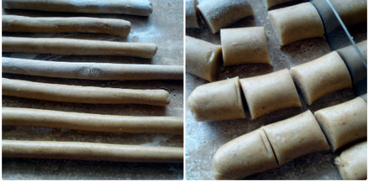 Croatian honey spice cookies - medenjaci by Laka kuharica: roll the dough into long rolls