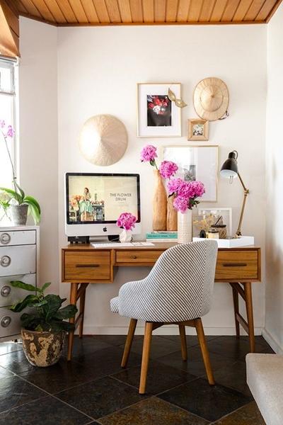 decoração área de trabalho em casa