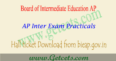AP Inter practical hall ticket 2021 2nd year @apbie.apcffs.in