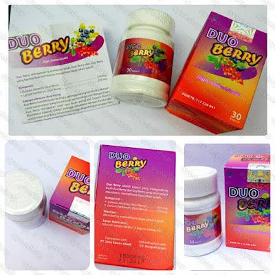 Detail Suplemen Pelangsing dan Pemutih Duo Berry BPOM