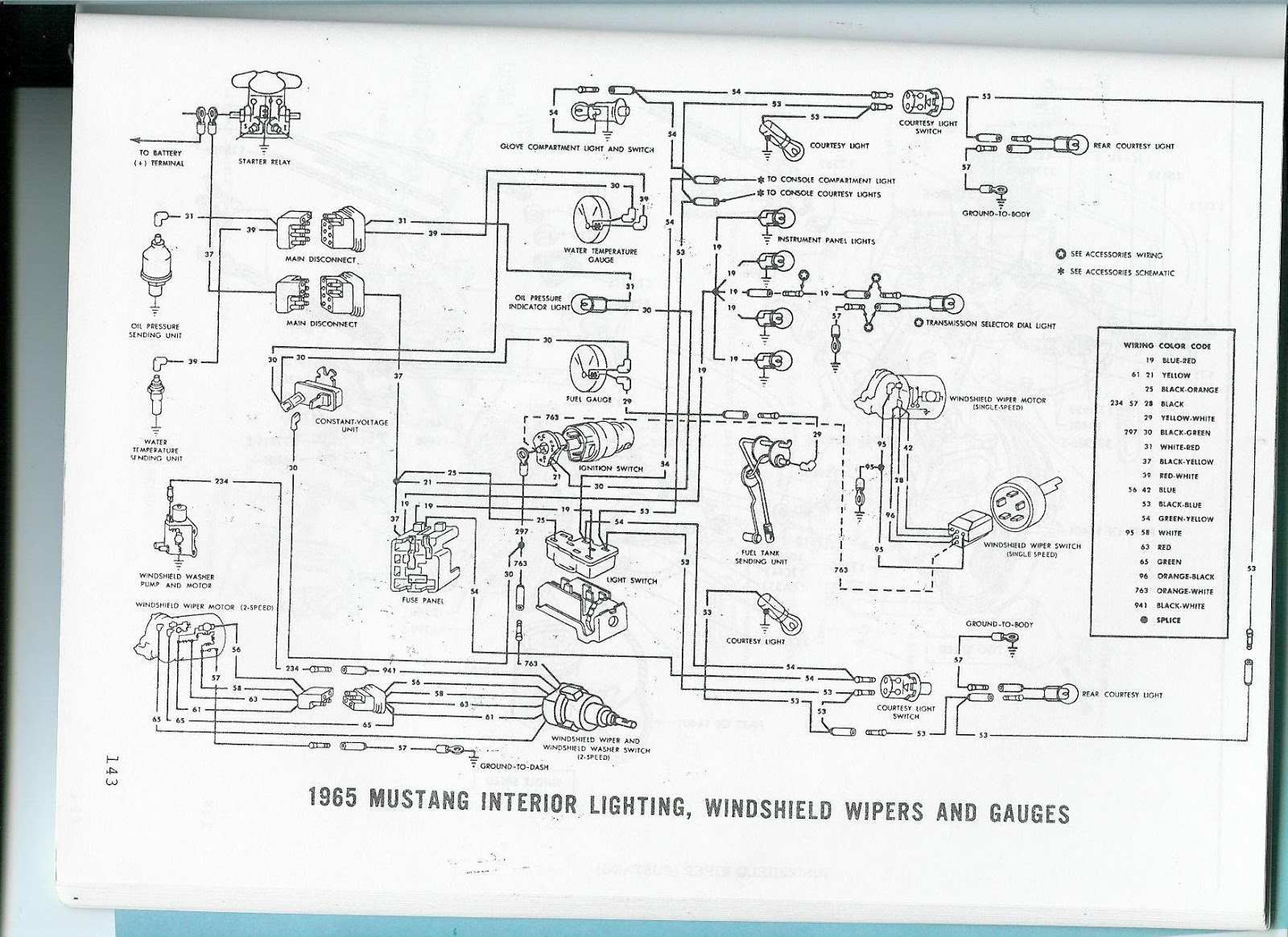 Wiring Diagram 1965 Mustang Accessories