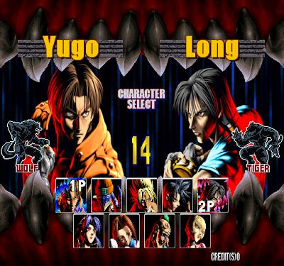 Bloody Roar 2 selec players