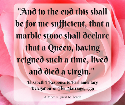Rose with quote from Elizabeth I 1559