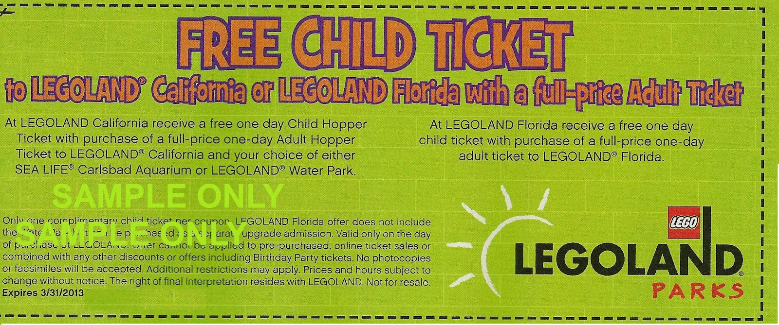 photo relating to Legoland Printable Coupons known as Legoland little one free of charge coupon : Otterbox galaxy s4 display screen protector