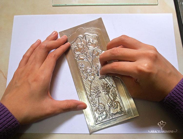 2 formas de pintar el repujado con vitral facilmente - Se puede pintar el aluminio ...