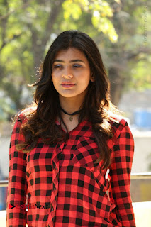 Actress Hebah Patel Stills in Blue Denim Jeans at Nanna Nenu Naa Boyfriends Movie Success Meet  0023.JPG