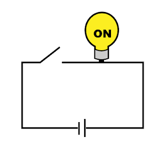 Circuit with bulb on