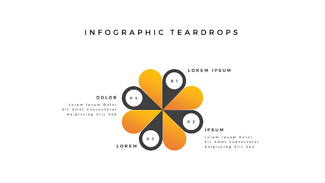 Infographic Teardrop elements for PowerPoint Slide 1