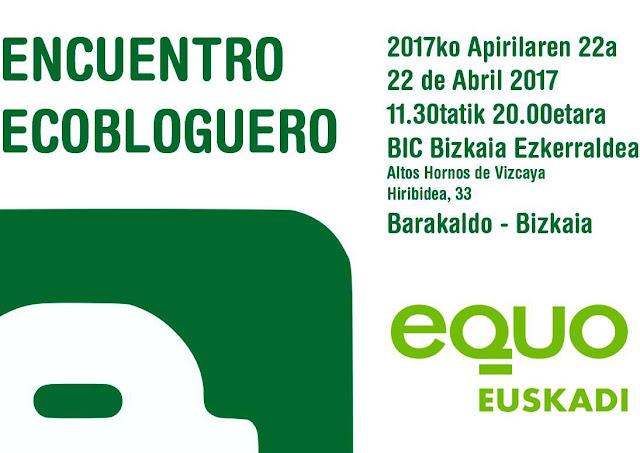Cartel del encuentro ecobloguero de Equo