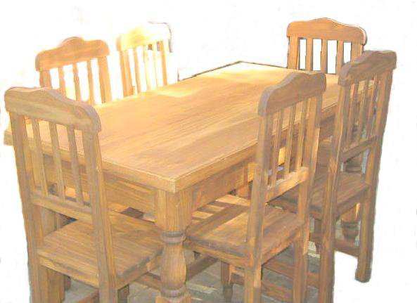 El mejor precio y entrega en mendoza muebles de pino for Comedores de madera precios