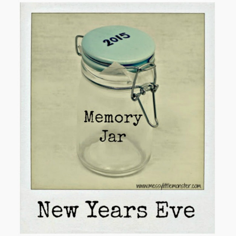 New years eve activities for kids. New years memory jar. A family tradition and keepsake
