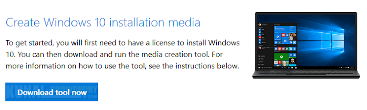 Install Windows 10 Fall Creators Update using Media Creation Tool