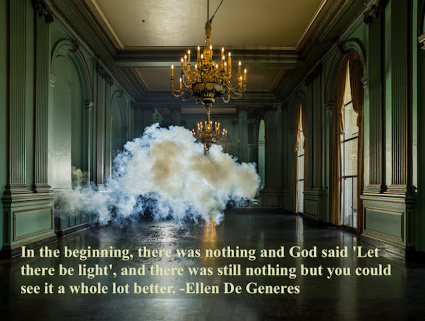 Berndnaut Smilde (Installation Artist) A cloud inside a palace. Quote by Ellen DeGeneres In the beginning. marchmatron.com