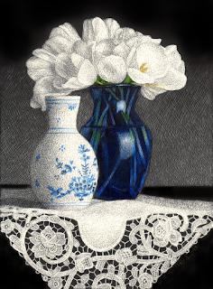 https://www.dailypaintworks.com/fineart/sandra-willard/white-tulips-in-blue-vase/625712