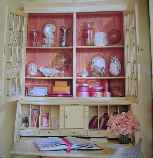 Maison Decor: French Wallpaper For My Cabinet