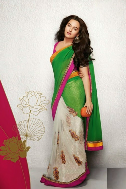 Sonakshi Sinha Photo shoot In Green Saree