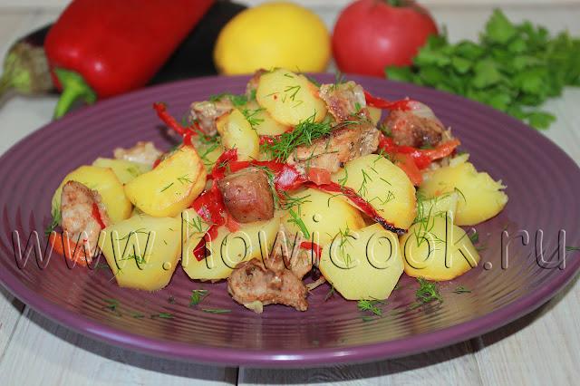 рецепт свинины с овощами в рукаве