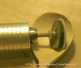 самодельная насадка для шлифовки ложки бормашинкой