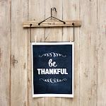 Be Thankful Chalkboard Printable