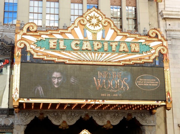 Into the Woods movie exhibit El Capitan Theatre Hollywood