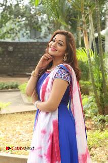 Actress Ashwini Stills in Blue Chudidar at Ameerpet Lo Release Press Meet  0177.JPG