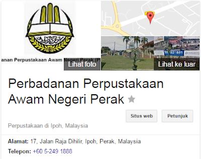 Rasmi - Jawatan Kosong di (PPANPk) Perbadanan Perpustakaan Awam Negeri Perak Terkini 2019