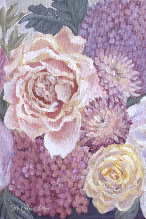 Summer Flower Paintings- www.gildedbloom.com