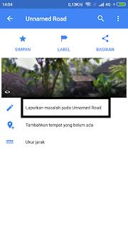 memasukkan nama jalan baru di maps