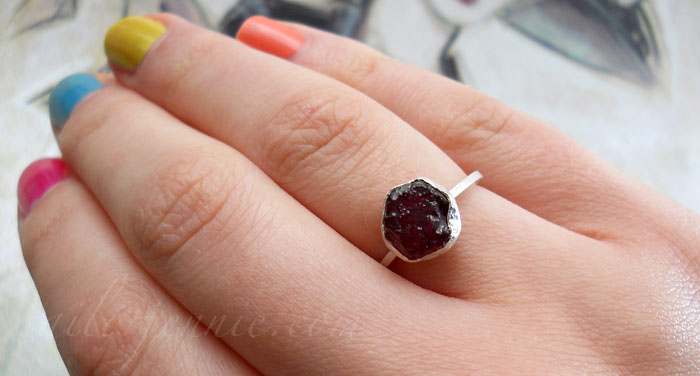 Unpolished Ruby In natural light the rubyUnpolished Ruby