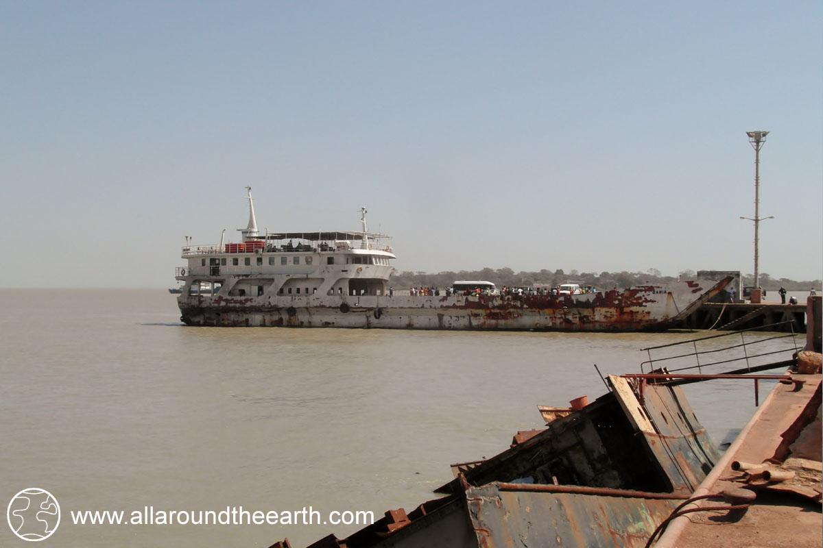 Boat from Bissau to Bubaque Island, Bijagos Archipelago, Guinea Bissau, West Africa