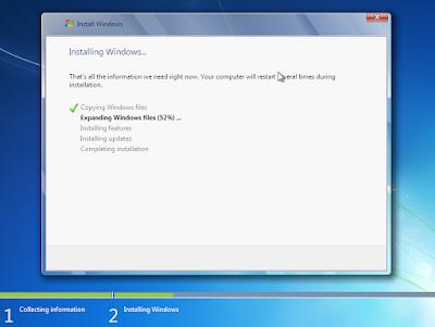 Cara Install dan Install Ulang Windows 7+ dengan Flashdisk 8