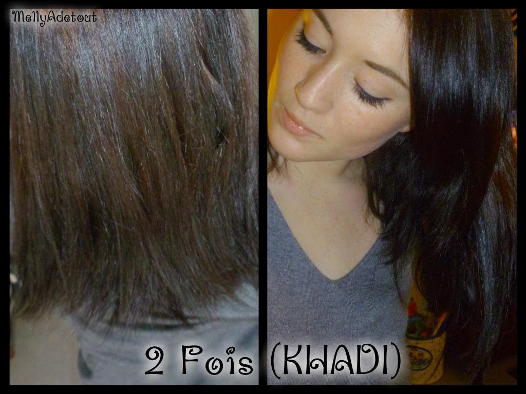 mon premier essai - Coloration Khadi Noir