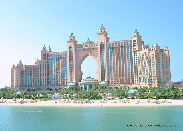 Atlantis The Palm as seen on board Palm Monorail