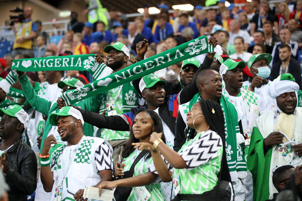 Nigeria fans at World cup 2018