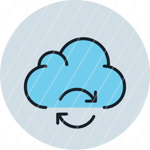 cloud data storage sync syncronization icon