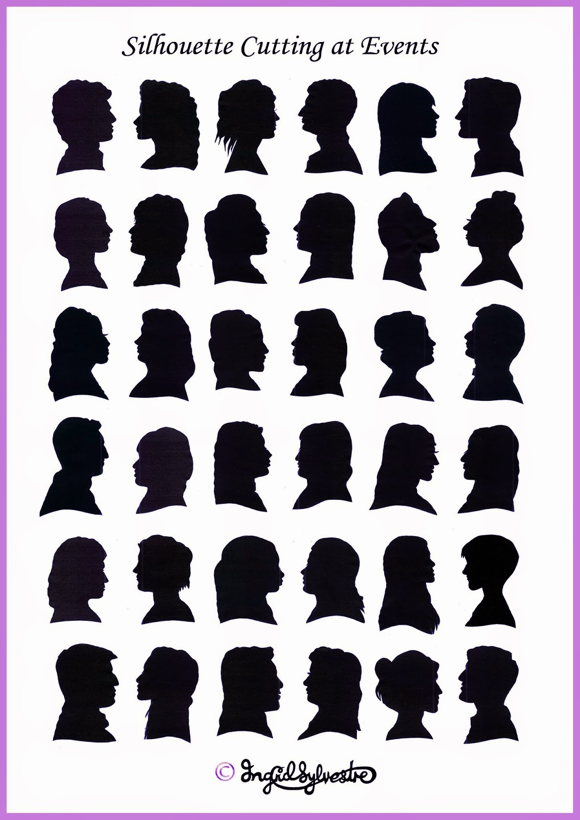 Uk Silhouette Artist Ingrid Sylvestre Wedding Entertainment North East Hand Cut Silhouettes At Weddings