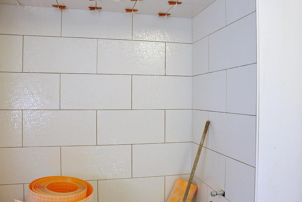 Sparkly shower tile