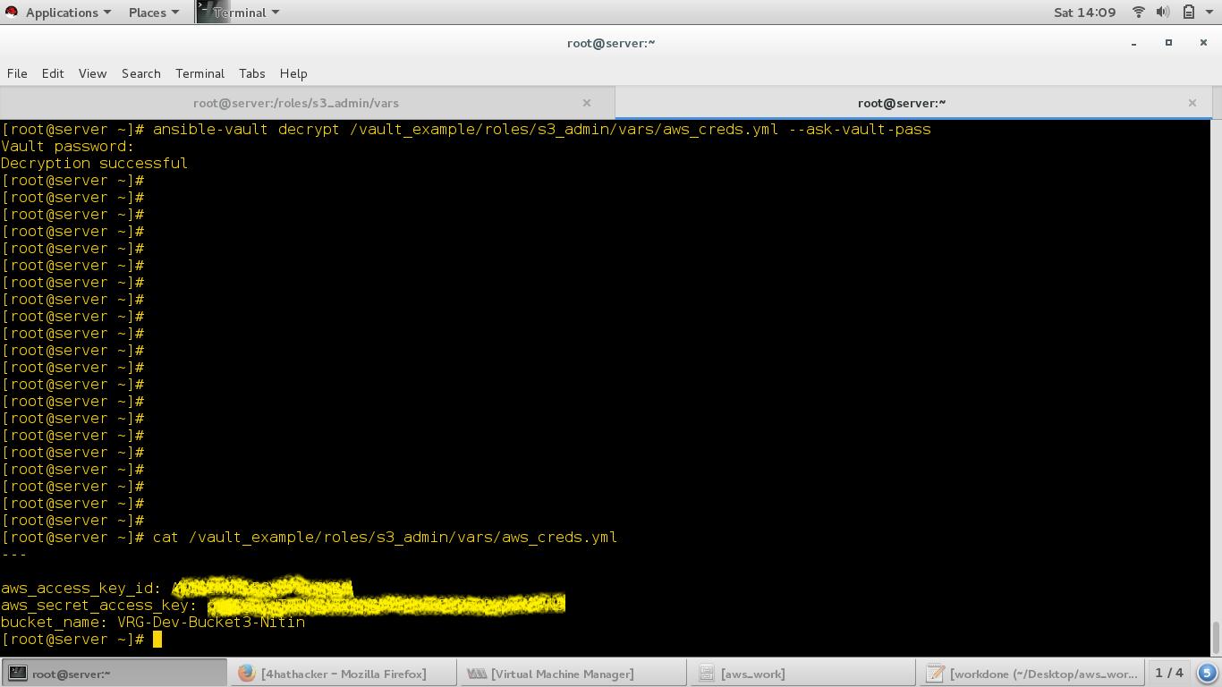 Ansible Vault - Lets encrypt sensitive data while automation