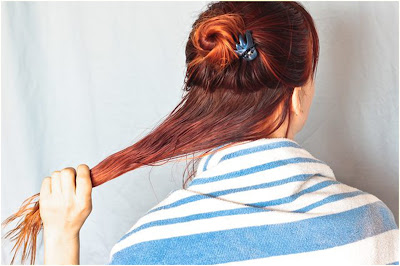 Step 2 - how to dye hair two colors top and bottom at home