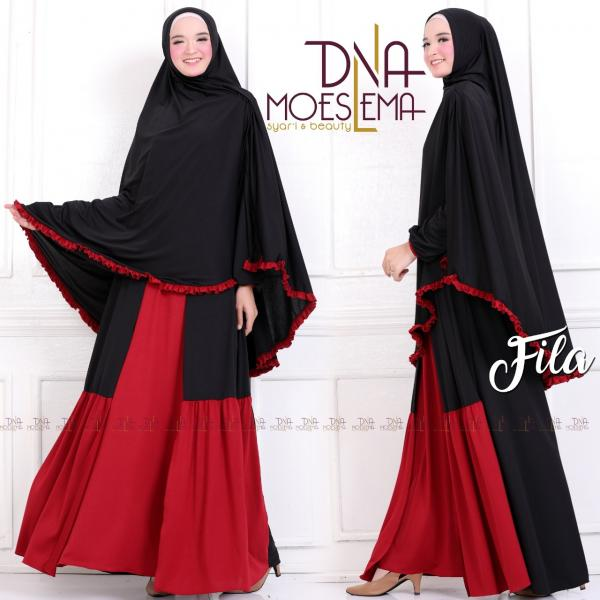 Jual Baju Busana Muslim Gamis Fila Syari