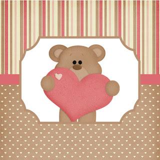 Etiquetas para Imprimir Gratis de Osito Enamorado.