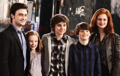 La famille de Harry Potter dans l'épisode 8
