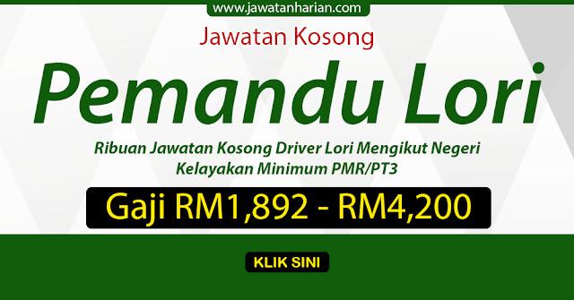 Jawatan Kosong Klang Pemandu Lori J Kosong W
