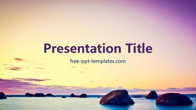 calming powerpoint template