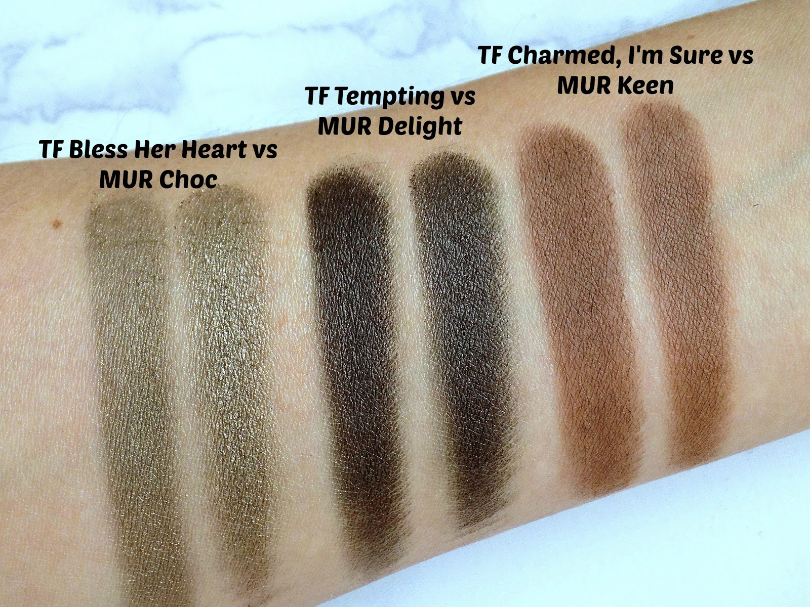 I Heart Makeup Chocolate And Peaches palette swatches