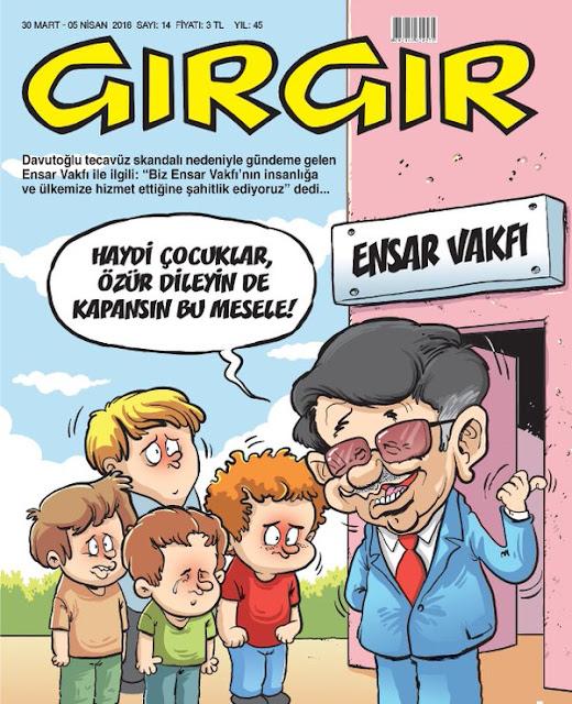 Gırgır Dergisi - 30 Mart - 5 Nisan 2016 Kapak Karikatürü
