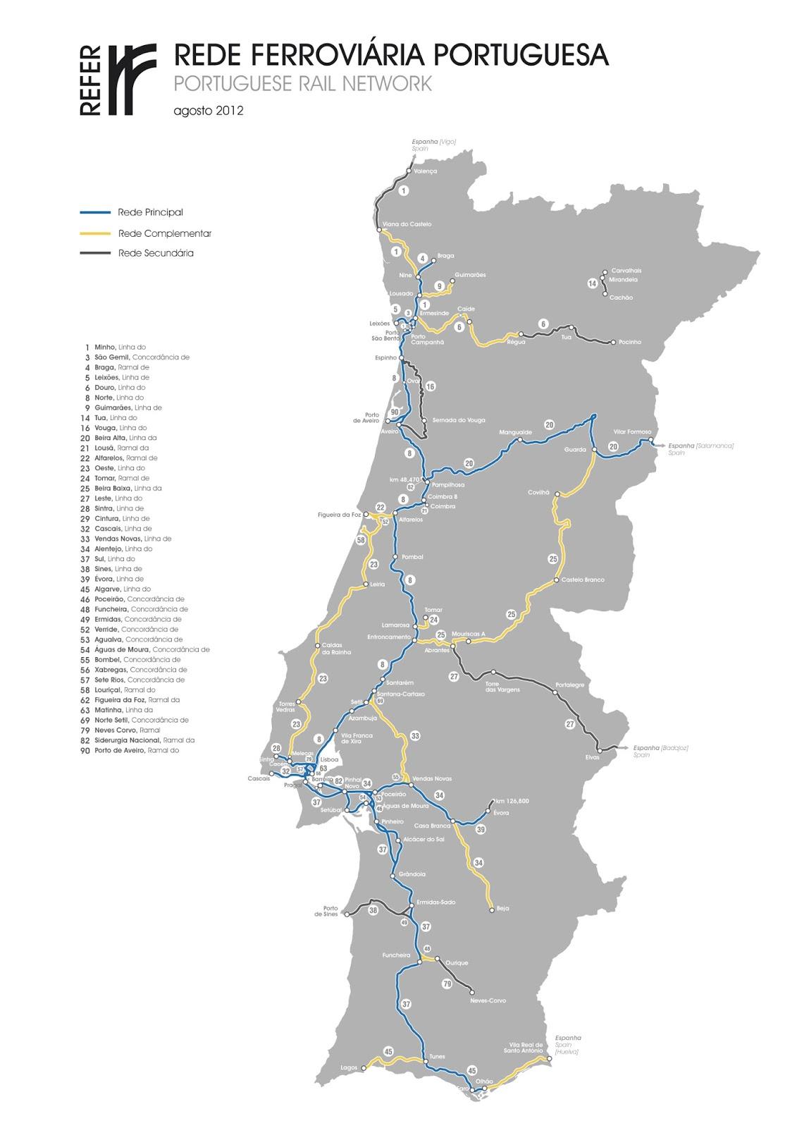 mapa do tgv em portugal Apeadeiro das Virtudes: MAPAS FERROVIÁRIOS mapa do tgv em portugal